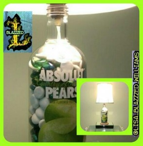 PEAR LAMP WITH STICKER